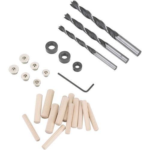 combo brocas topes y centradores clavijas carpintero d3759
