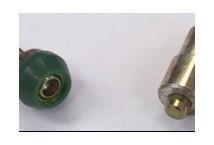 combo broches doble aro 9.5mm x 200u bronce + matriz d/a 9.5