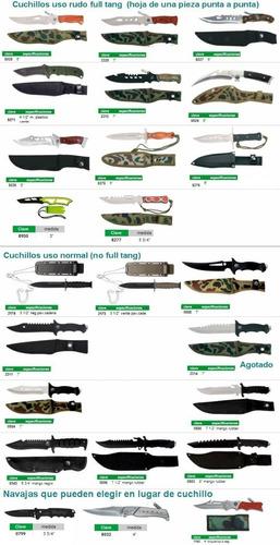 combo brujula y 3 cuchillos acero c funda varios modelos