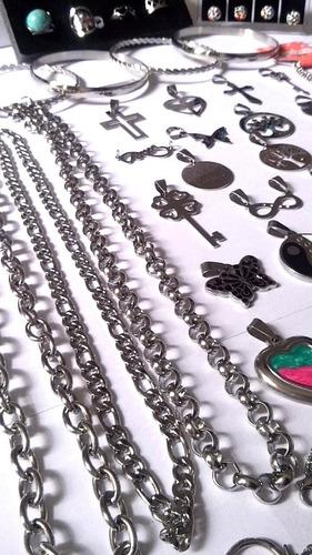 combo cadenas pulseras dijes acero quirurgico xmayor reventa