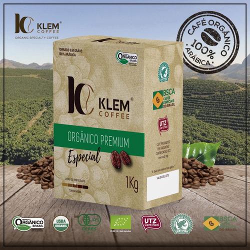 combo café orgânico especial - klem coffee - 3 un. de 1kg