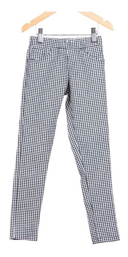 combo calza pantalon cuadrille + remera algodon osito nena