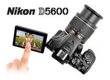combo camara nikon d5600 18-55 y lente 70-300 af-p f/4.5-5.6