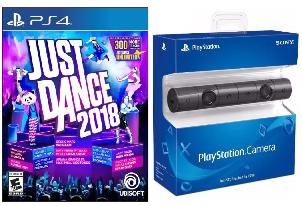 Combo Camara Ps4 Juego Just Dance 2018 Ps4 Sellados Ade 4 699