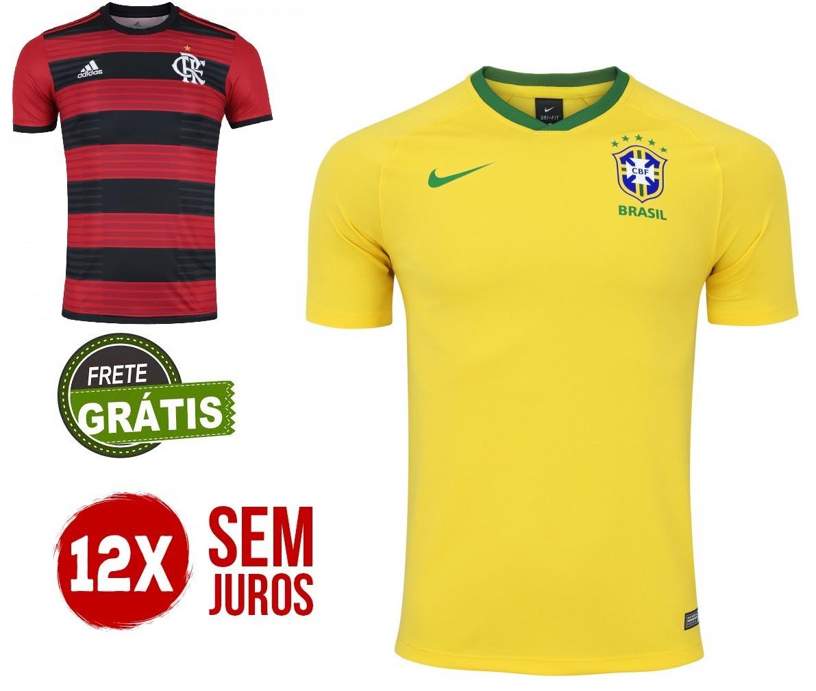 13aede2e52095 Combo Camisa Seleção + Flamengo