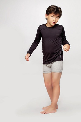 combo camiseta térmica dufour + bóxer.  t. 8-14