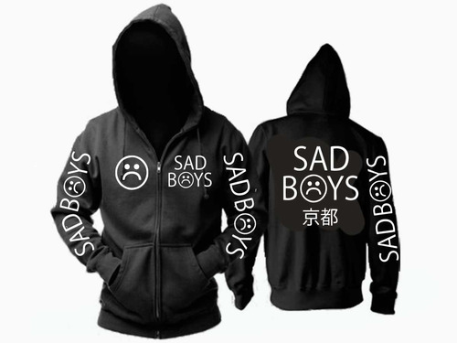 combo campera + remera + gorra sad boys hip hop color animal