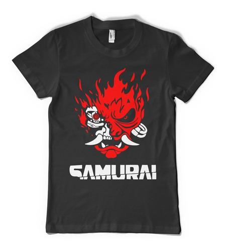 combo campera + remera + gorra samurai cyberpunk 2077