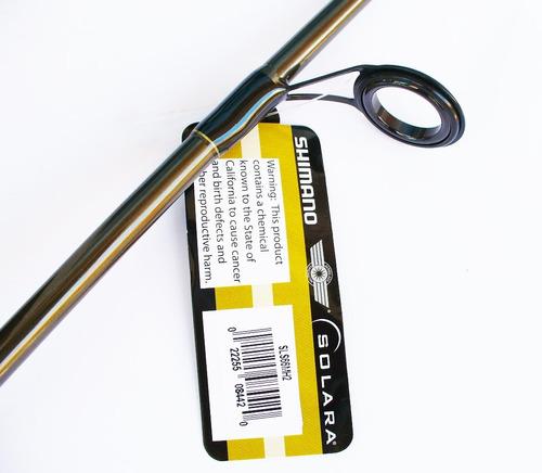 combo caña shimano solara 6.6 +carrete fx2500fb + linea