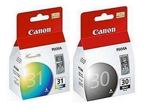 combo canon cartuchos canon 30 pg-30 y canon 31 cl-31