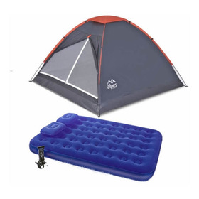 Combo Carpa Alpes 4 Personas Eco + Combo Colchón + Inflable