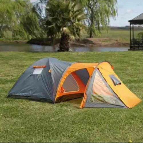 combo carpa iglu 4 pers colchon inflador camping oferta