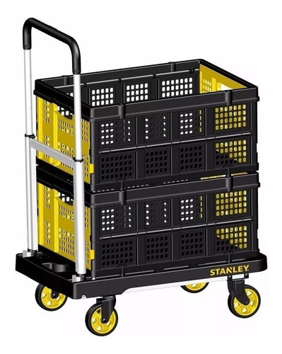 combo carro plataforma pc506 + cesta plegable ft505 stanley
