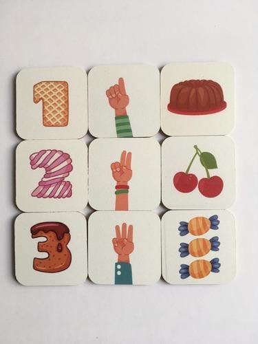 combo cartas + memotest asociación +  relaciono de números