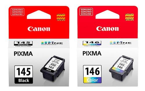 combo cartucho canon 145 negro + 146 color original
