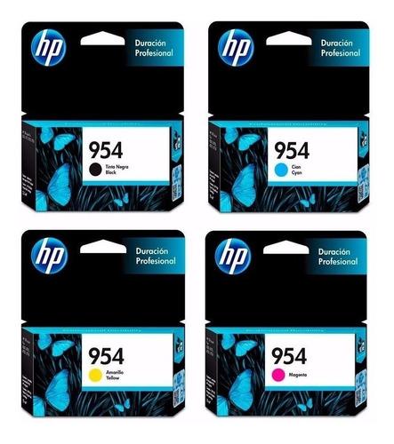 combo cartucho hp 954 negro + colores para 8710 8210 orginal