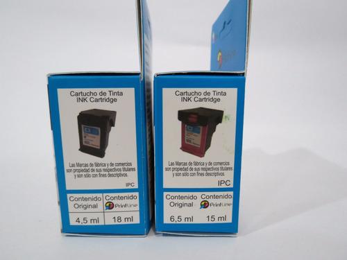 combo cartuchos 60 genericos printline xl hp compatible