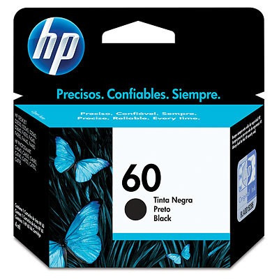 combo cartuchos hp 60 negro + 60 color originales gtia ofic