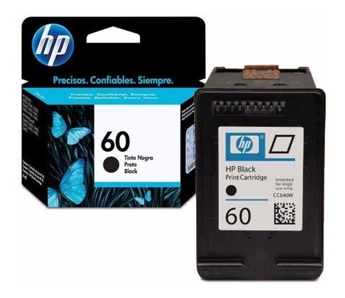 combo cartuchos hp 60 negro y color originales f4480 f4280