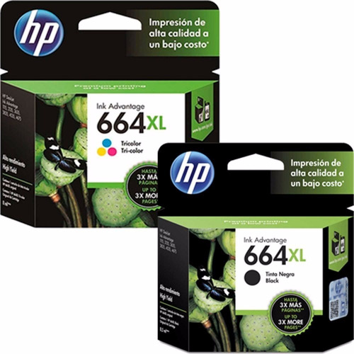combo cartuchos hp 664xl 2135 3635 4535 4675 originales 664