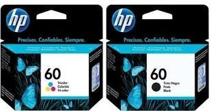 combo cartuchos hp originales 60 negro y 60 color