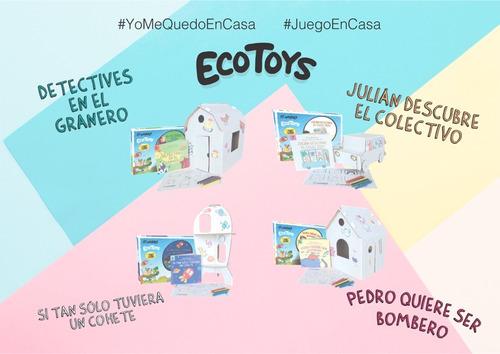 combo casa de juegos ondulé + ecotoys + mini + 2 regalos