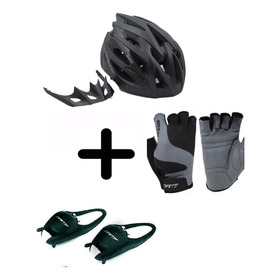 Combo Cascos Gw Hornet + Luces + Guantes Mtb/ruta  Bicicleta