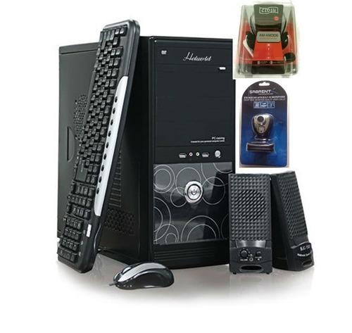 combo case chasis con mouse/teclado/cornetas/fuente/webcam