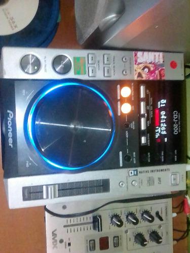 combo cdj pioneer 200 mixer beringer 2 canales