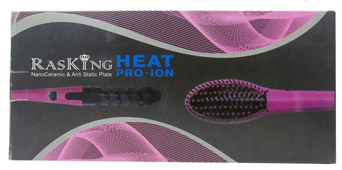 combo cepillo alisador rizador rasking nano ceramic heatpro