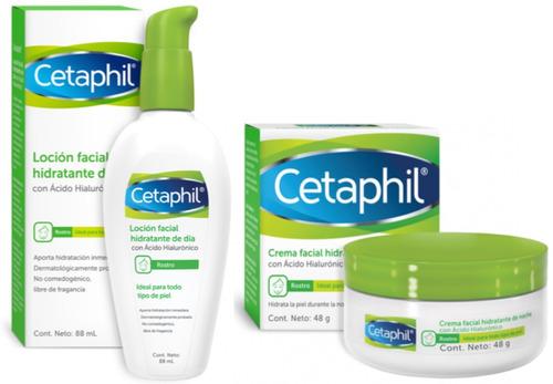 combo cetaphil hidratante noche y dia c/ acido hialuronico