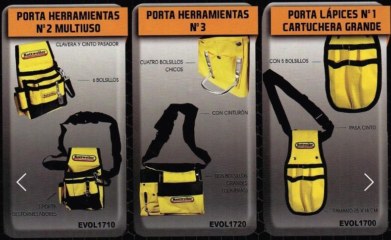 Combo Cinturon Tipo Cartuchera Porta Herramientas 3 Unidades ... 04843f09bec7