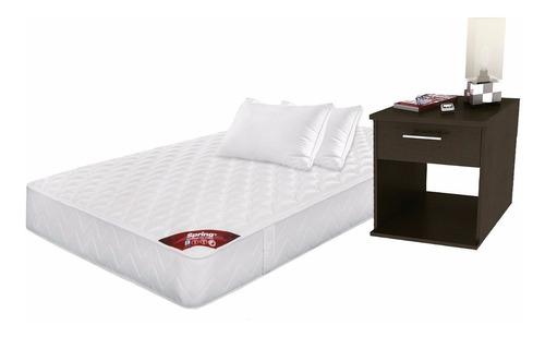 combo classic sencillo 100x190 + almohadas + mesa noche