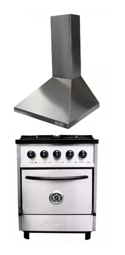 combo cocina depaolo 57 cm piz + campana 60 col-home cuotas