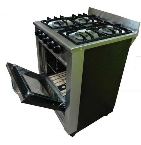 combo cocina industrial fornax + campana extractora 60 cm