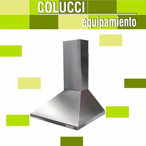 combo cocina industrial tecnocalor 57cm + campana motor cuot