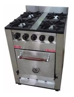 combo cocina pevi 60 cm acero inox + campana extractora cuot