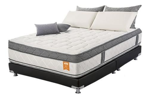 combo colchón 140x190  pedic plus + base cama