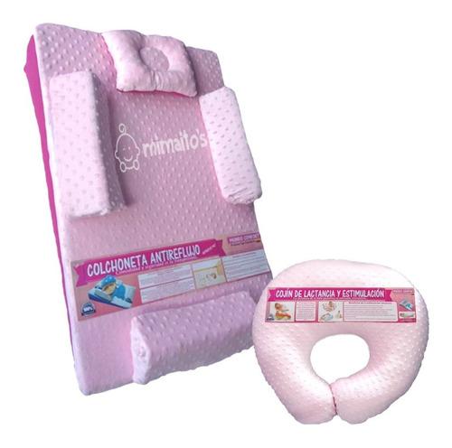 combo colchon antireflujo + cojin de lactancia para bebe