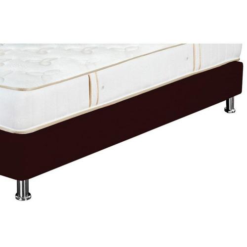 combo colchón + base cama color cafe ensueño turin 1,00 x 19