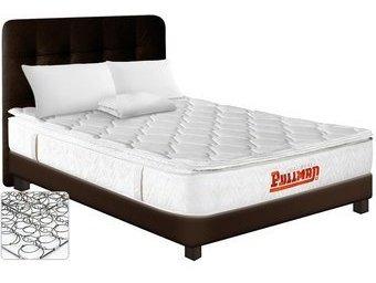 combo colchón doble resortado pullman nekama btu + basecama