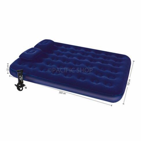 combo colchón inflable queen + 2 almohadas + bomba camping!!