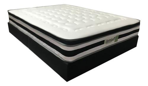 combo colchon mas base cama dormipuff doble140*190 one-face