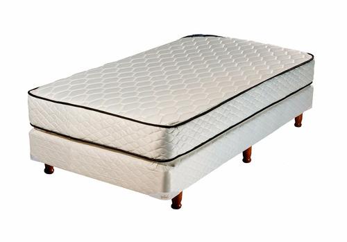 combo colchón + sommier + almohada + sábanas + acolchado