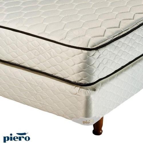 combo colchón sommier piero y almohada spring 190x80 envío