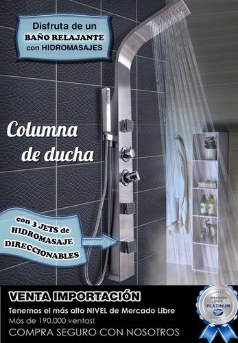 combo columna de ducha + bomba escocesa panel hidromasaje