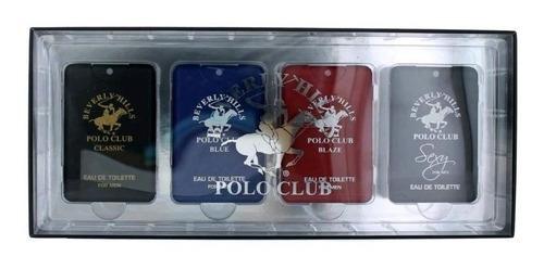 combo com 4 perfumes beverly hills polo club com 20ml cada