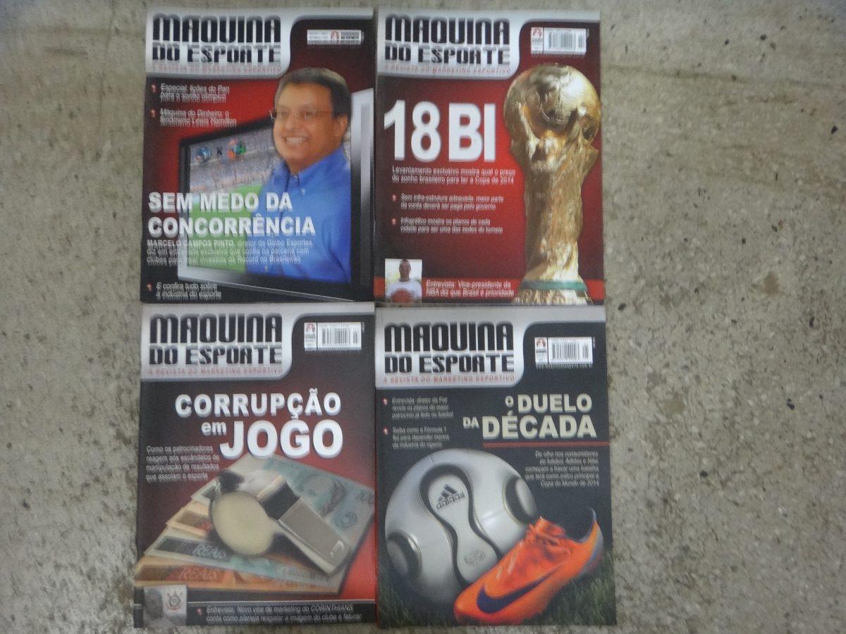 aa0d46f97 Combo Com 4 Revista - Maquina Do Esporte - R  49