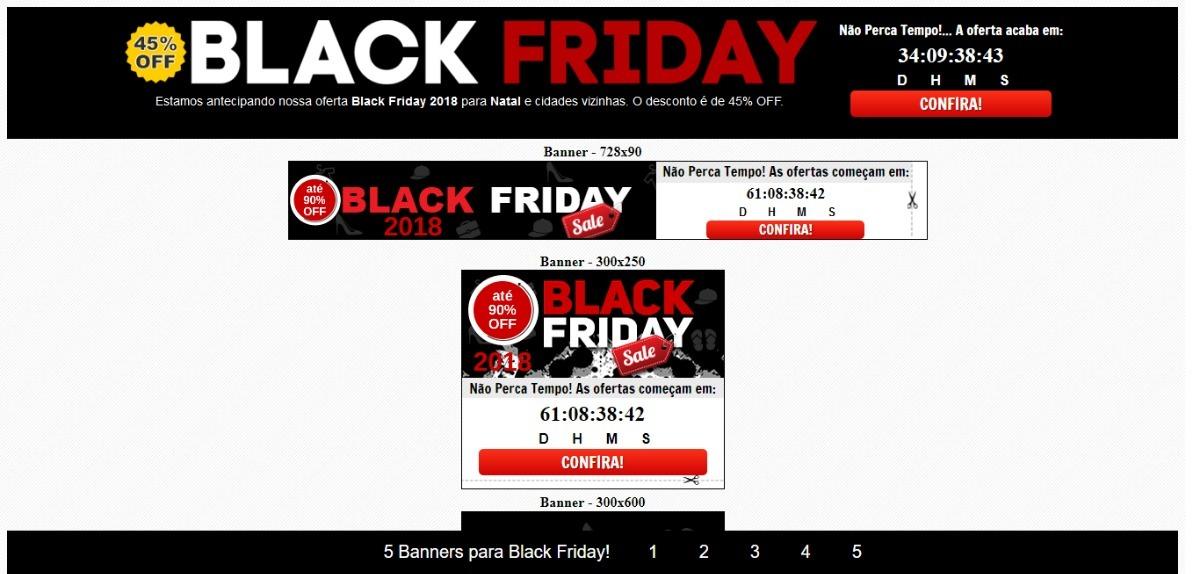 Combo Com 5 Banners Para Black Friday 2018 - R  49,90 em Mercado Livre 84a135bb93