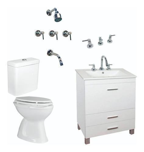 combo completo baño set inodoro pringles vanitory cuotas